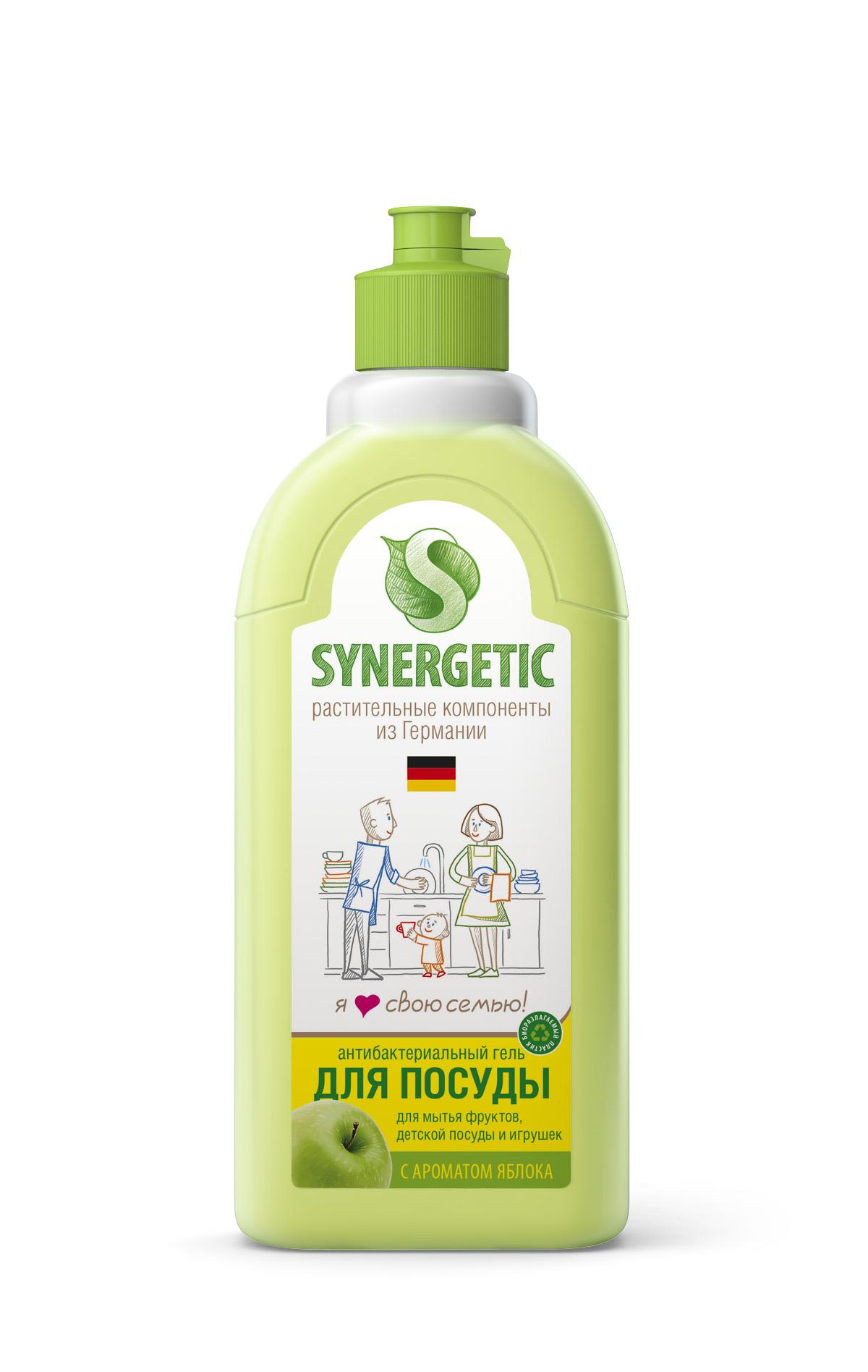 Средство для мытья посуды Synergetic, яблоко, 500 млSNG-103052Концентрированное ср-во для мытья всех видов посуды от любых видов загрязнений. Обладает 100% смываемостью, подходит для мытья фруктов, детской посуды и игрушек. Удаляет жир в ледяной воде.