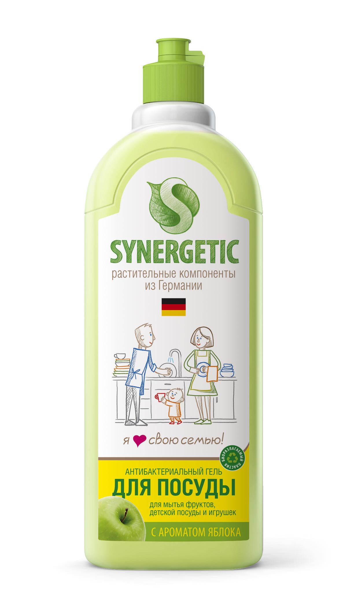 Средство для мытья посуды Synergetic, концетрированное, яблоко, 1 лSNG-103102Концентрированное средство Synergetic предназначено для мытья всех видов посуды. Обладает 100% смываемостью, подходит для мытья фруктов, детской посуды и игрушек. Удаляет жир в ледяной воде.Товар сертифицирован.Как выбрать качественную бытовую химию, безопасную для природы и людей. Статья OZON Гид