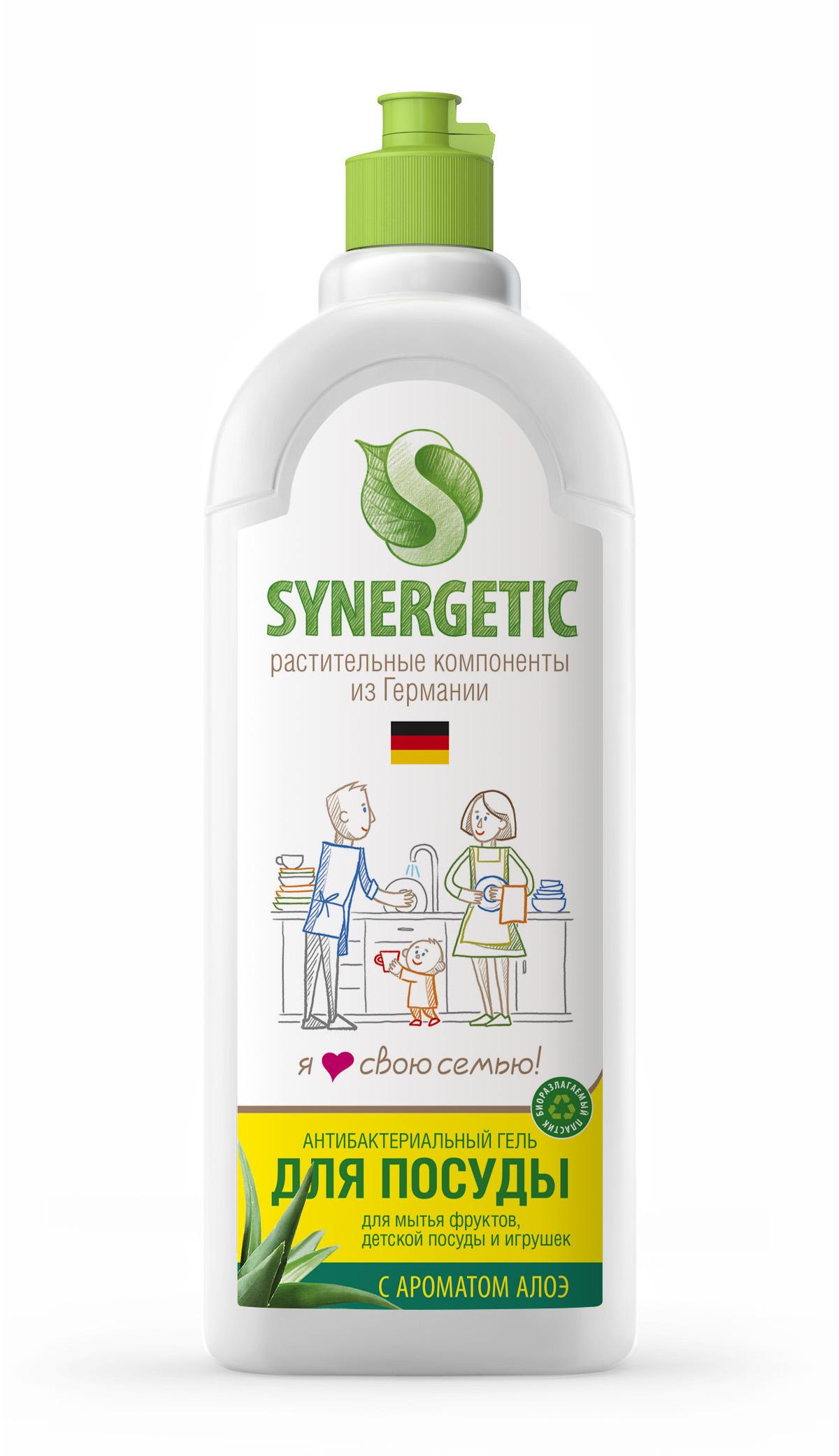 Средство для мытья посуды Synergetic, концентрированное, алоэ, 1 лSNG-103103Концентрированное средство Synergetic предназначено для мытья всех видов посуд. Обладает 100% смываемостью, подходит для мытья фруктов, детской посуды и игрушек. Удаляет жир в ледяной воде.Товар сертифицирован.