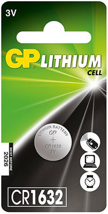Батарейка литиевая GP Batteries, тип СR1632, 3В11207Батарейка литиевая GP Batteries - лучшее решение для профессиональных и медицинских приборов.Батарейка показывает великолепный результат в профессиональных приборах, а также в устройствах с высоким потреблением энергии. Она идеальна для медицинских приборов и отлично работает в экстремальных погодных условиях. Особенности: На 40% легче обычных батареек;Демонстрируют превосходный результат при экстремальных погодных условиях (от -40°C до 60°C);Встроенная система защиты;Длительный срок хранения (10 лет).