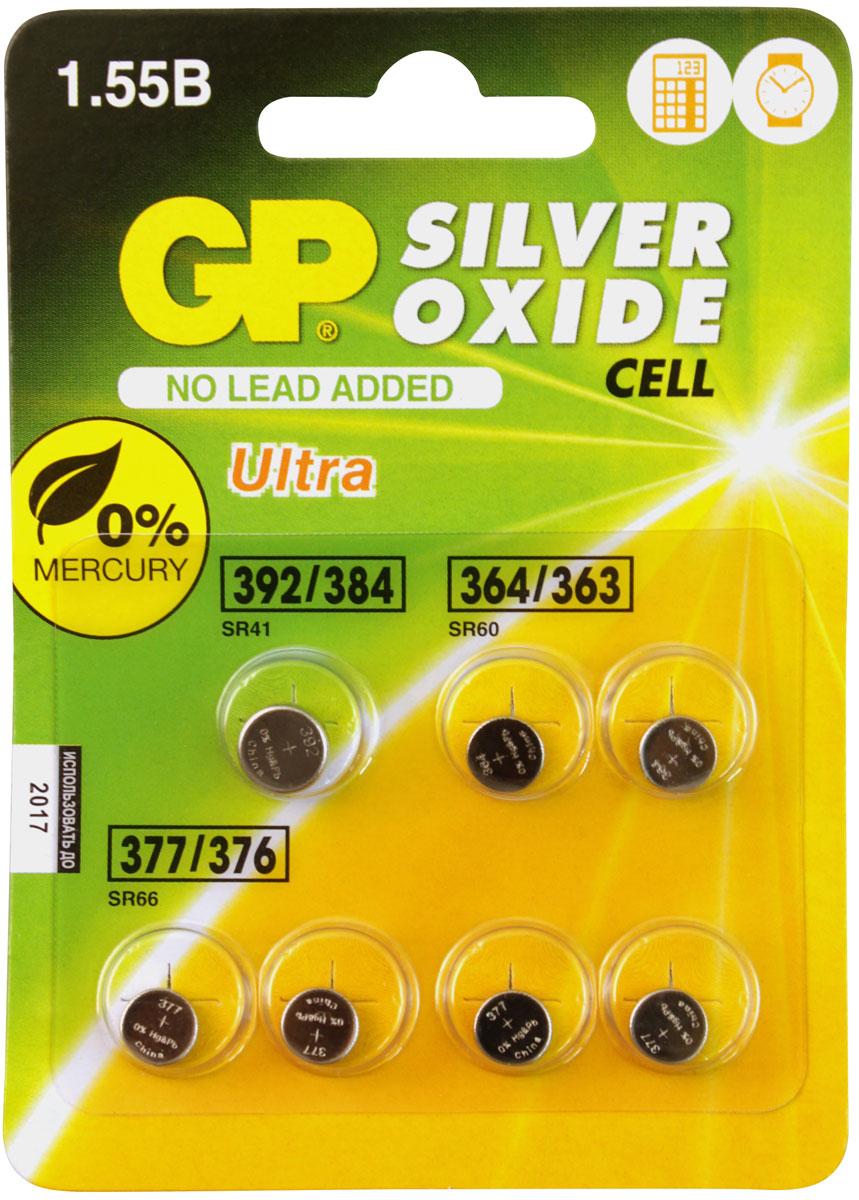 Набор дисковых батареек GP Batteries, SOM01, типы: 364, 377, 392, 7 шт11526Набор дисковых батареек GP Batteries состоит из 7 часовых батареек, которые обеспечивают надежную работу ваших наручных часов. Они гарантируют сбалансированный источник питания и долгий срок службы вашим часам.Особенности: Очень долгий срок службы;Широкая гамма типоразмеров;Не содержит ртути.