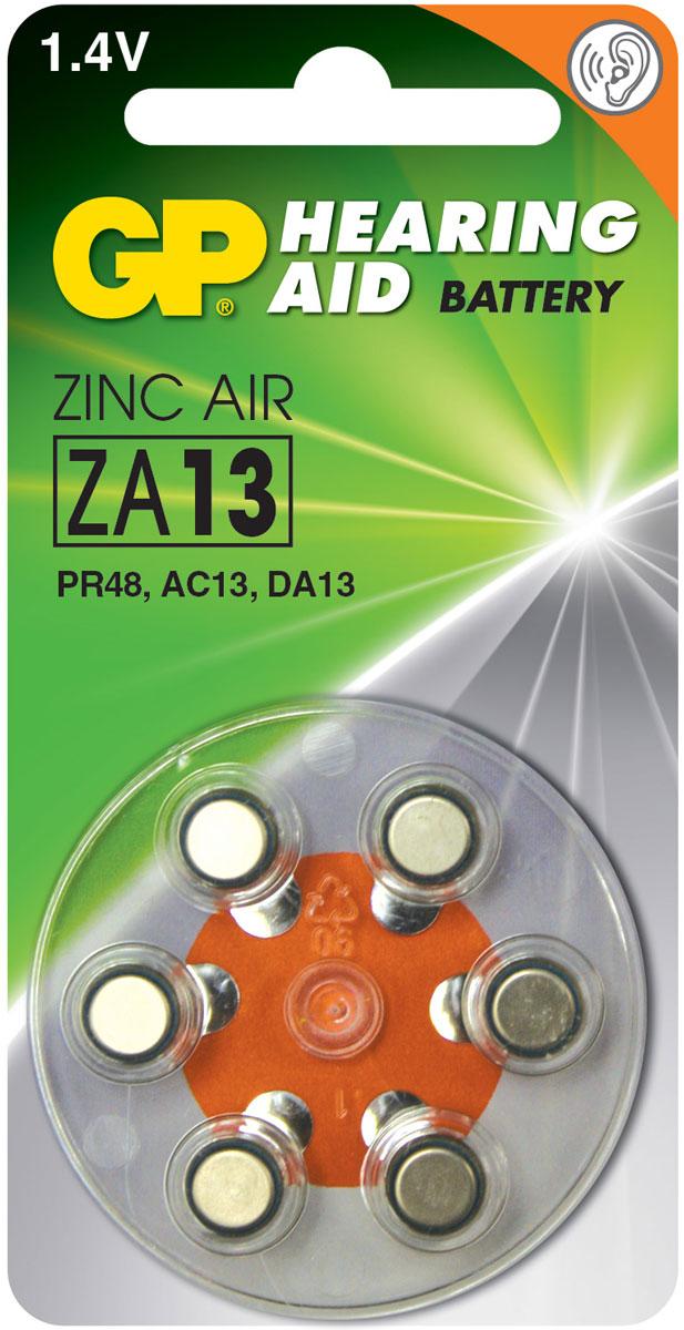 Набор батареек GP Batteries, для слуховых аппаратов, тип ZA13, 6 шт3685Батарейки GP Batteries специально разработаны для надежной работы в чувствительных слуховых аппаратах. Батарейки обеспечивают долгий срок службы практически для всех типов слуховых аппаратов. Особенности: Долгий срок службы;Надежное высокое качество;Все основные модели в ассортименте.