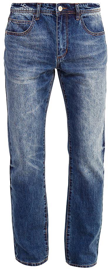 Джинсы мужские Sela, цвет: синий джинс. PJ-235/098-7361. Размер 34-34 (50-34)PJ-235/098-7361Мужские джинсы от Sela выполнены из натурального хлопка. Модель прямого кроя в талии застегивается на пуговицу, имеются шлевки для ремня и ширинка на застежке-молнии. Джинсы имеют классический пятикарманный крой.