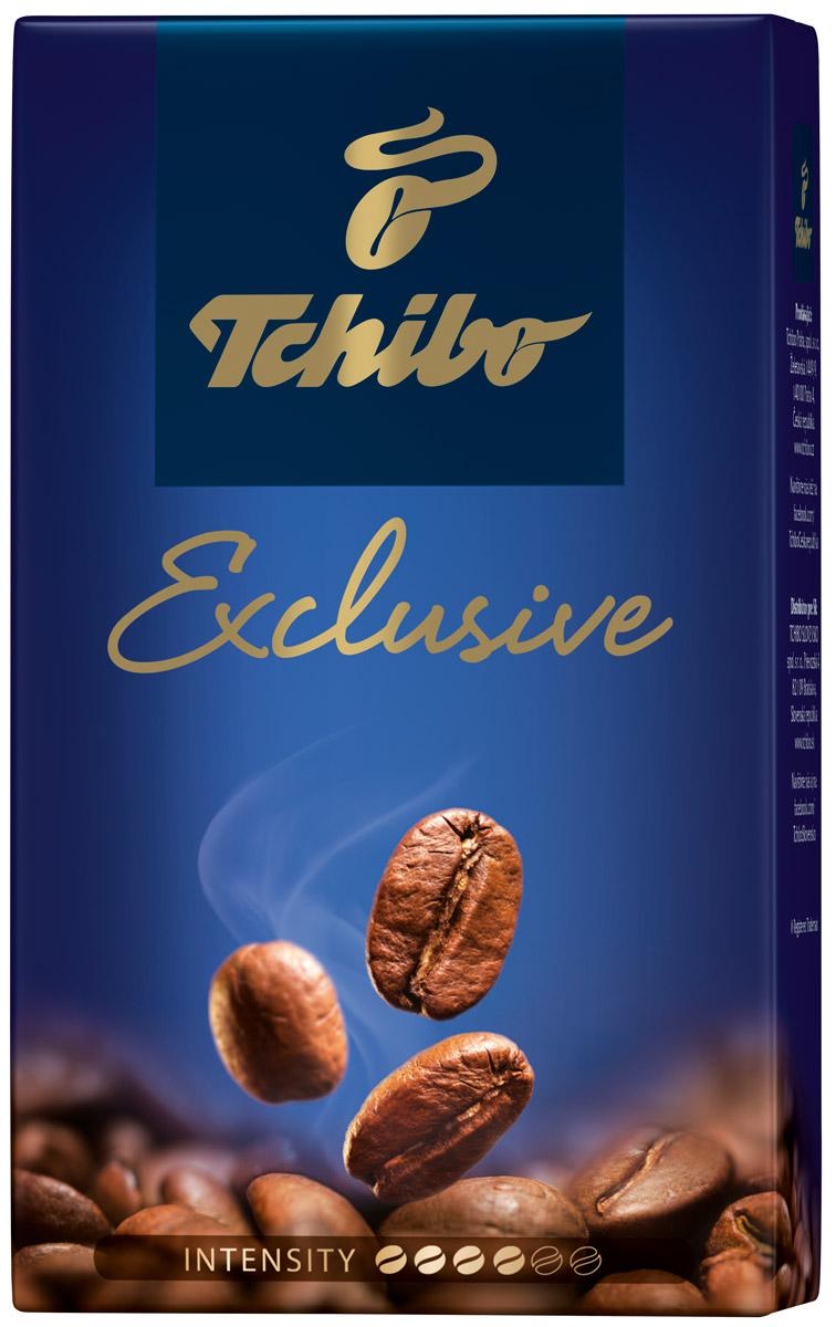 Tchibo Exclusive кофе молотый, 250 г85582Побалуйте себя и своих близких изысканным кофе Tchibo Exclusive. Его богатый аромат и насыщенный вкус доставят вам непревзойдённое удовольствие. Для создания этого исключительного купажа эксперты Tchibo отбирают только лучшие зерна Арабики и дополняют их зернами насыщенной Робусты.Кофе: мифы и факты. Статья OZON Гид