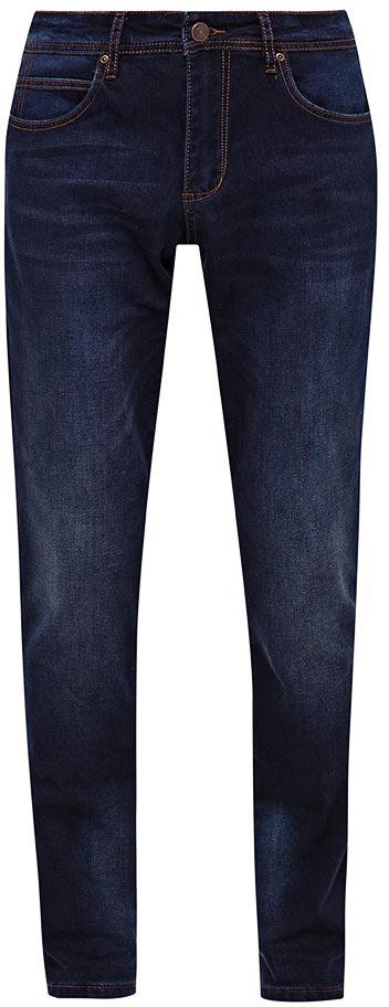 Джинсы мужские Sela, цвет: темно-синий джинс. PJ-235/105-7452. Размер 38-34 (54-34)PJ-235/105-7452Мужские джинсы от Sela выполнены из эластичного хлопка. Модель Slim в талии застегивается на пуговицу, имеются шлевки для ремня и ширинка на застежке-молнии. Джинсы имеют классический пятикарманный крой.