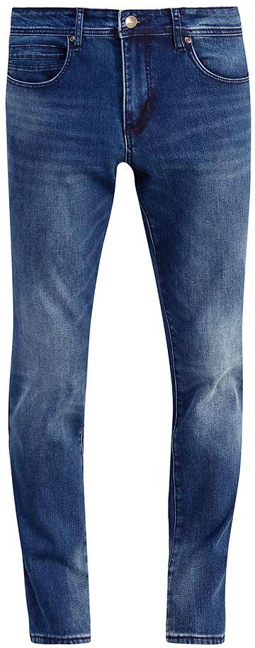Джинсы мужские Sela, цвет: темно-синий джинс. PJ-235/107-7452. Размер 32-34 (48-34)PJ-235/107-7452Мужские джинсы от Sela выполнены из эластичного хлопка. Модель Slim в талии застегивается на пуговицу, имеются шлевки для ремня и ширинка на застежке-молнии. Джинсы имеют классический пятикарманный крой.