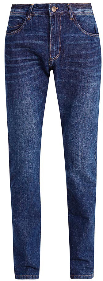 Джинсы мужские Sela, цвет: темно-синий джинс. PJ-235/108-7361. Размер 36-34 (52-34)PJ-235/108-7361Мужские джинсы от Sela выполнены из натурального хлопка. Модель Slim в талии застегивается на пуговицу, имеются шлевки для ремня и ширинка на застежке-молнии. Джинсы имеют классический пятикарманный крой.
