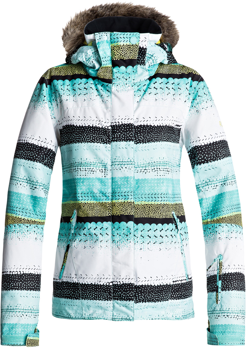 куртка женская roxy jet ski цвет синий erjtj03124 bfk9 размер s 42 Куртка женская Roxy, цвет: бирюзовый, белый, темно-серый. ERJTJ03124-BFK7. Размер XS (40)