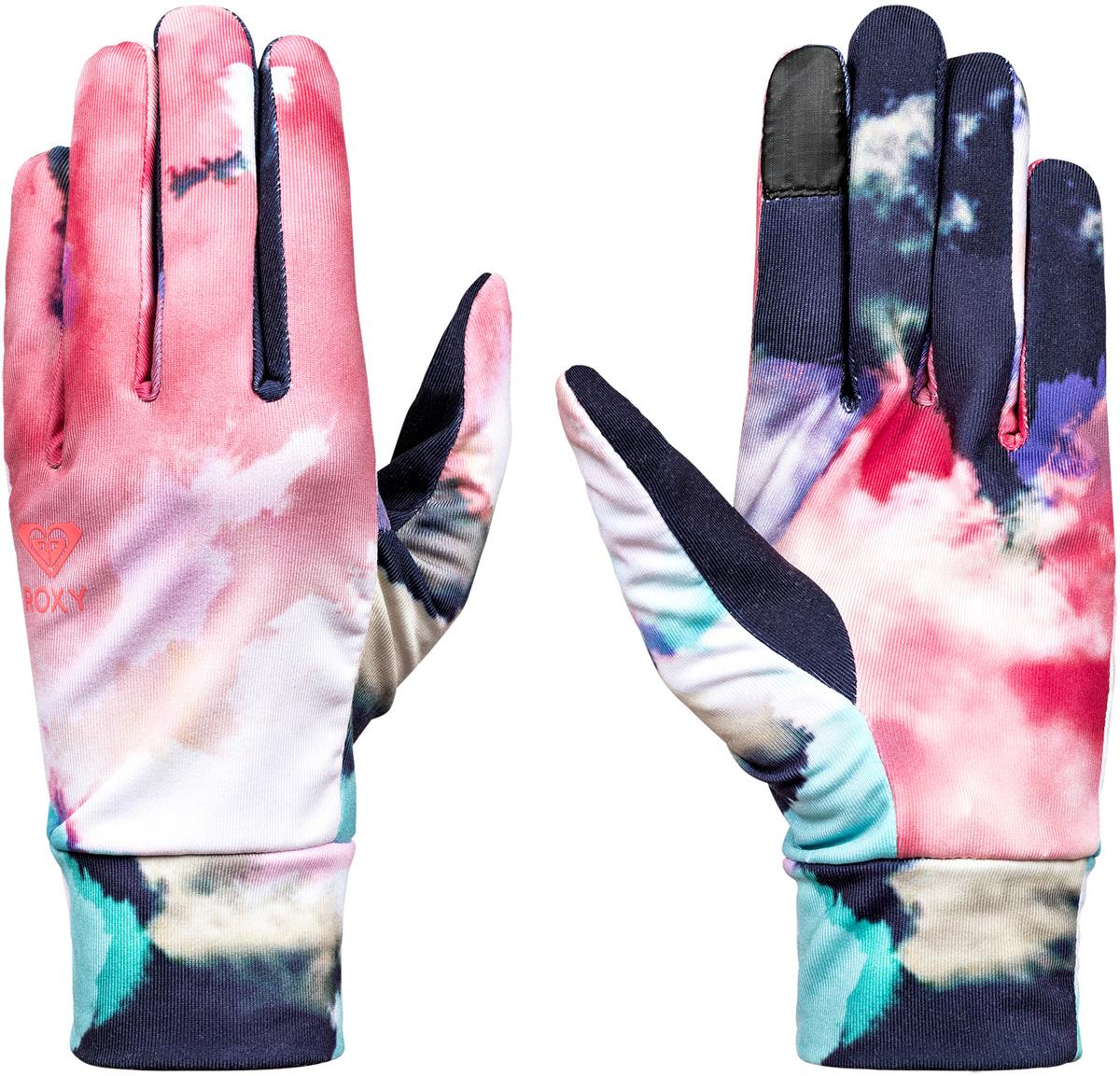 Перчатки женские Roxy Liner, цвет: темно-синий, розовый. ERJHN03059-NKN6. Размер S (6,5)ERJHN03059-NKN6Сноубордические перчатки Roxy Liner выполнены из технологичного эластичного текстиля Polartec Power Stretch. Широкие манжеты обеспечивают комфортную посадку модели на руке. Указательный палец подходит для пользования тачскрином.