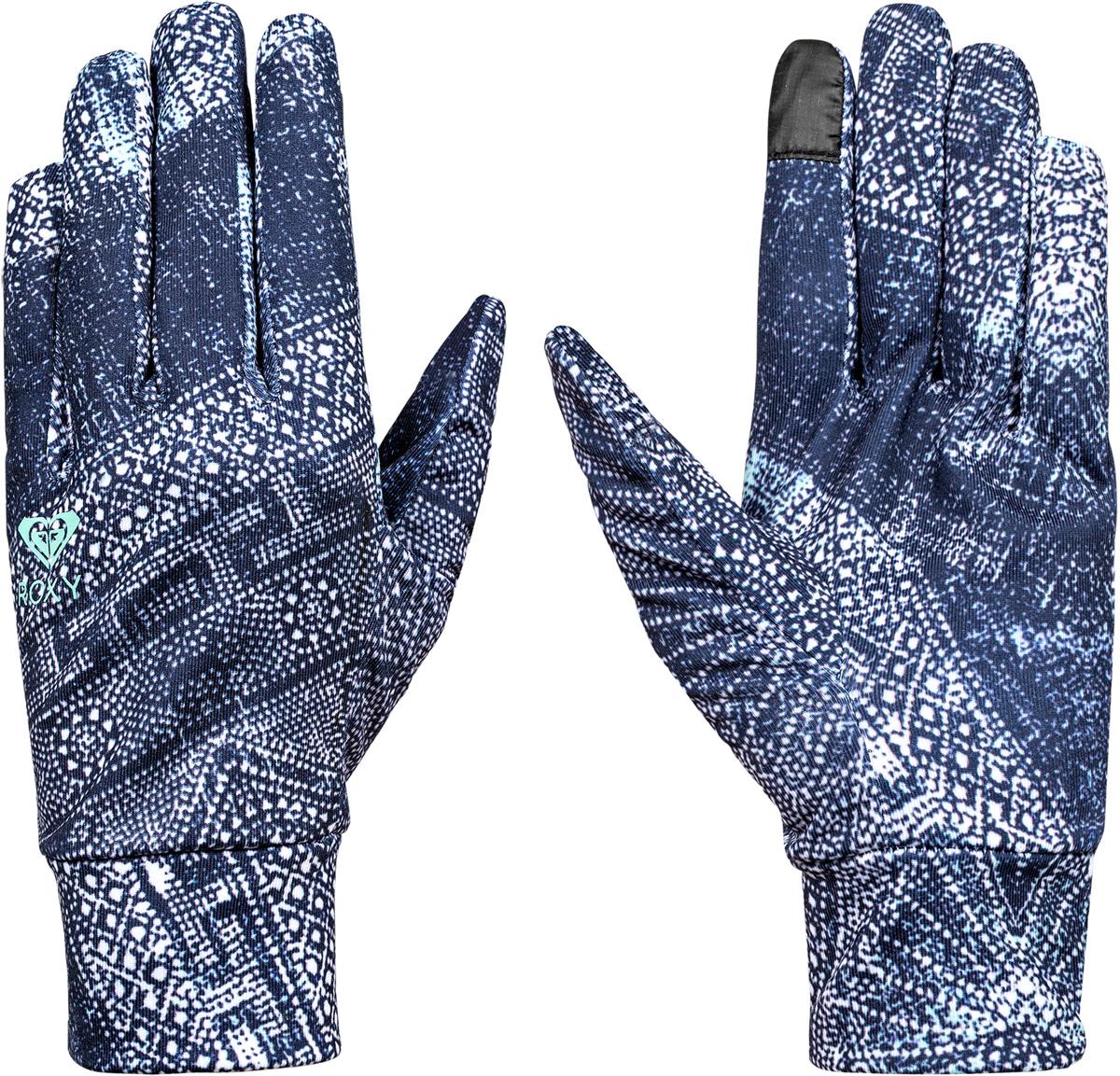 Перчатки женские Roxy Liner, цвет: темно-синий. ERJHN03059-BTN6. Размер S (6,5)ERJHN03059-BTN6Сноубордические перчатки Roxy Liner выполнены из технологичного эластичного текстиля Polartec Power Stretch. Широкие манжеты обеспечивают комфортную посадку модели на руке. Указательный палец подходит для пользования тачскрином.