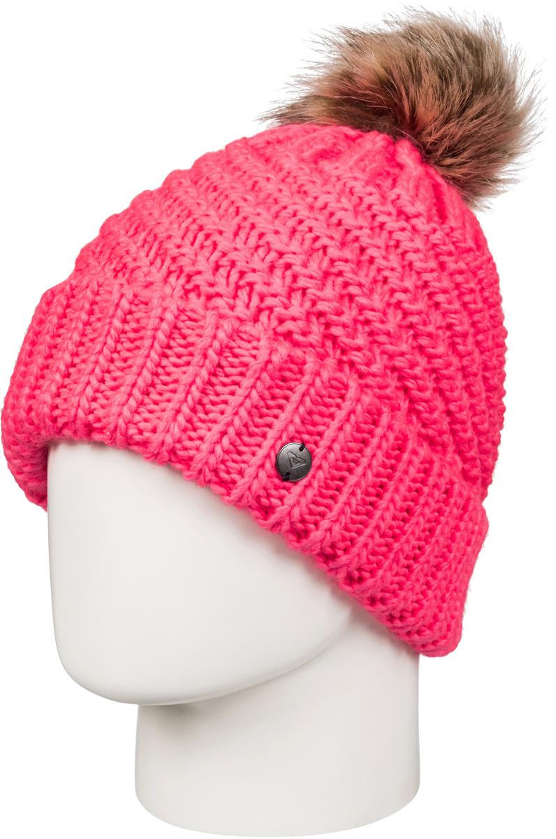 Шапка женская Roxy Blizzard, цвет: коралловый. ERJHA03272-NKN0. Размер универсальныйERJHA03272-NKN0Стильная женская шапка Roxy Blizzard дополнит ваш наряд и не позволит вам замерзнуть в холодное время года. Шапка крупной вязки выполнена из акрила, что позволяет ей великолепно сохранять тепло и обеспечивает высокую эластичность и удобство посадки.Шапка оформлена помпоном и объемными вязаными узорами.Такая шапка станет модным и стильным дополнением вашего зимнего гардероба. Она согреет вас и позволит подчеркнуть свою индивидуальность!