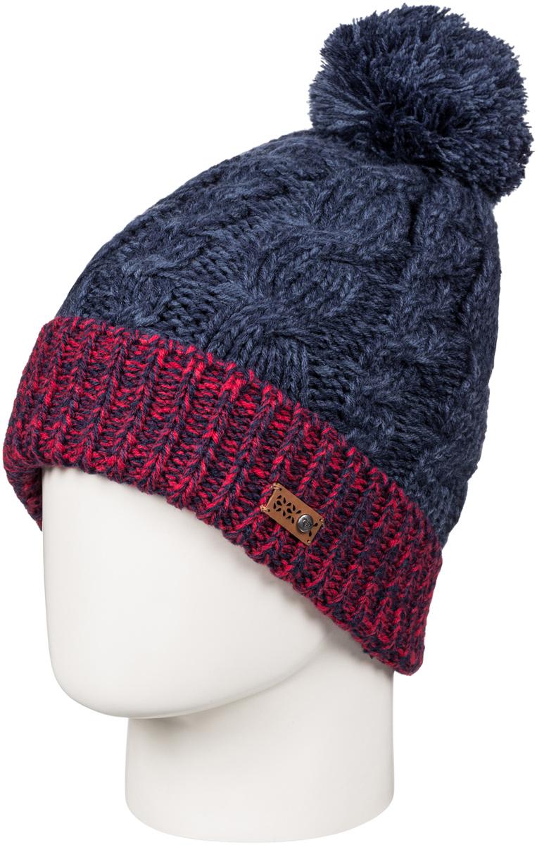 Шапка женская Roxy Anae, цвет: темно-синий. ERJHA03273-BTN0. Размер универсальныйERJHA03273-BTN0Стильная женская шапка Anae дополнит ваш наряд и не позволит вам замерзнуть в холодное время года. Шапка крупной вязки выполнена из акрила, что позволяет ей великолепно сохранять тепло и обеспечивает высокую эластичность и удобство посадки.Шапка оформлена помпоном и объемными вязаными узорами.Такая шапка станет модным и стильным дополнением вашего зимнего гардероба. Она согреет вас и позволит подчеркнуть свою индивидуальность!
