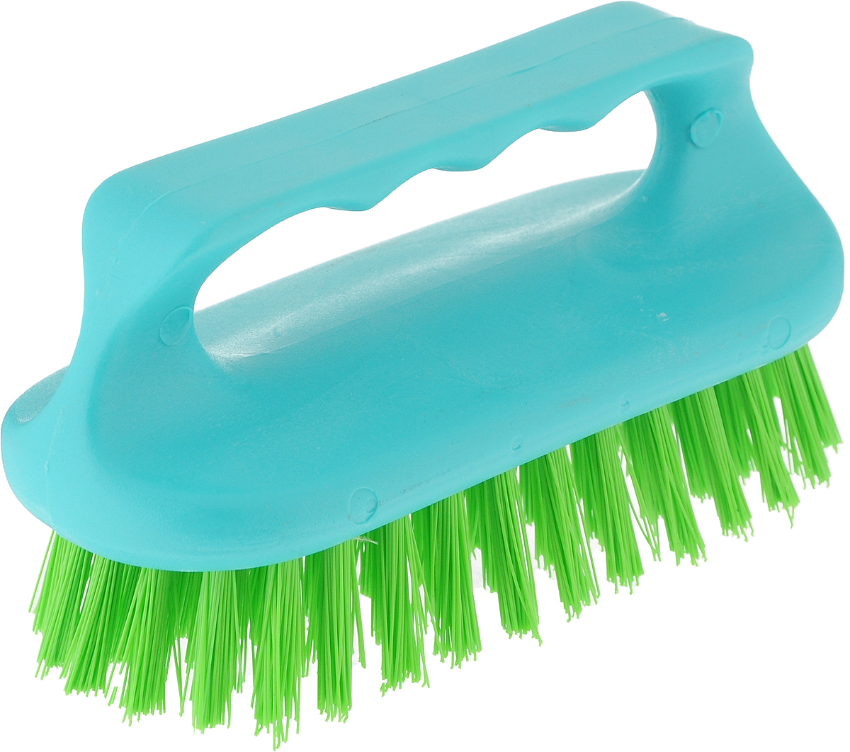 Щетка для ванны Хозяюшка Мила Сальвия, цвет: бирюзовый, салатовый24006_бирюзовый, салатовыйЩетка для ванны Хозяюшка Мила Сальвия, изготовленная из высокопрочного пластика, идеально подходит для снятия сильных загрязнений. Удобная ручка делает процесс чистки комфортным, а форма щетки позволяет хорошо чистить даже труднодоступные места. Щетина средней жесткости не повреждает поверхность. Размер щетки (с учетом ручки и щетины): 13,5 х 6 х 7,2 см.Длина щетины: 2,5 см.