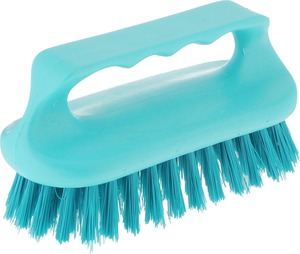 Щетка для ванны Хозяюшка Мила Сальвия, цвет: бирюзовый24006_бирюзовый/Щетка для ванны Хозяюшка Мила Сальвия, изготовленная из высокопрочного пластика, идеально подходит для снятия сильных загрязнений. Удобная ручка делает процесс чистки комфортным, а форма щетки позволяет хорошо чистить даже труднодоступные места. Щетина средней жесткости не повреждает поверхность. Размер щетки (с учетом ручки и щетины): 13,5 х 6 х 7,2 см.Длина щетины: 2,5 см.
