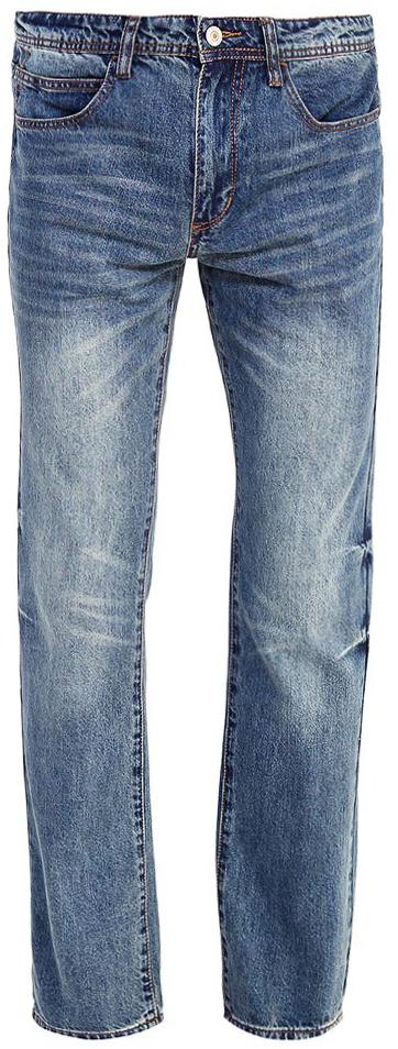 Джинсы мужские Sela, цвет: синий джинс. PJ-235/096-7361. Размер 32-34 (48-34)PJ-235/096-7361Мужские джинсы от Sela выполнены из натурального хлопка. Модель прямого кроя в талии застегивается на пуговицу, имеются шлевки для ремня и ширинка на застежке-молнии. Джинсы имеют классический пятикарманный крой.