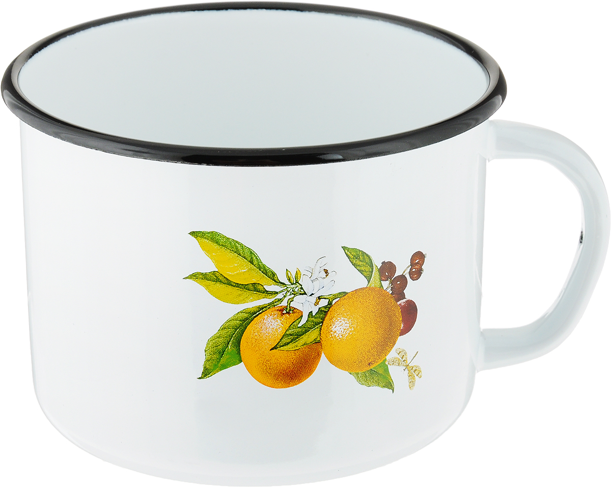 Кружка эмалированная СтальЭмаль Апельсины, 1 лС-0107/4_апельсиныКружка СтальЭмаль Апельсины изготовлена из высококачественной стали с эмалированным покрытием. Эмаль обладает способностью выдерживать сильный нагрев и обладает достаточной стойкостью выдерживать резкие перепады температуры без повреждений. Эмалевые поверхности непористые, непроницаемы для бактерий и большинства химических веществ, их очень легко мыть. Кружка оснащена удобной ручкой. Внешние стенки дополнены ярким изображением. Изделие прекрасно подходит для подогрева молока. Благодаря классическому дизайну и удобству в использовании кружка займет достойное место на вашей кухне.Диаметр (по верхнему краю): 13 см. Высота: 9,5 см.