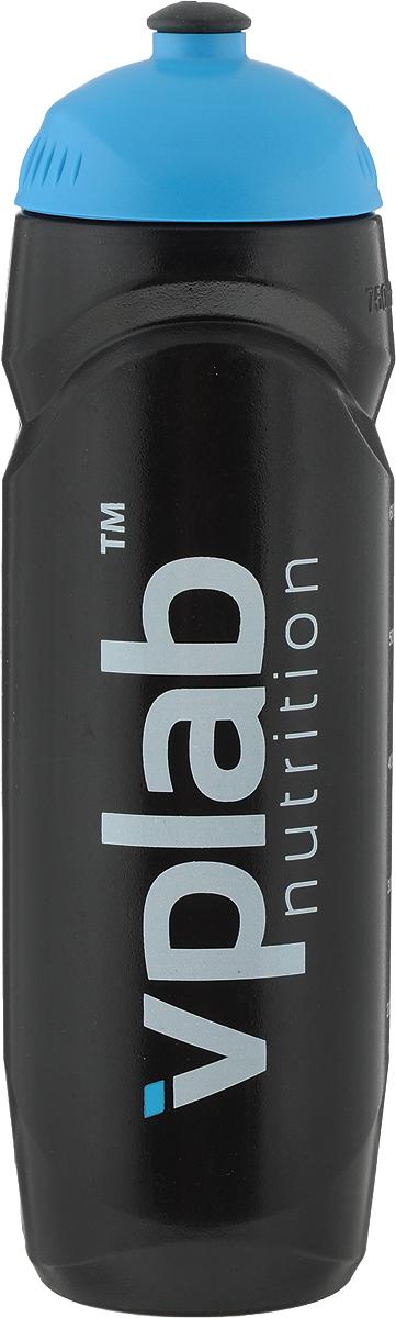 Бутылка спортивная VP Laboratory, цвет: черный, голубой, 750 млSSB0242Бутылка для воды VP Laboratory, изготовленная из высококачественного пластика, оснащена крышкой с клапаном. Мягкая силиконовая вставка на клапане предотвращает проливание и безопасна для зубов и десен. Бутылка снабжена отметками литража и подойдет для использования в жаркую погоду: вода долго сохраняет первоначальные свойства и вкусовые качества. При необходимости в бутылку можно наливать витаминизированные напитки, соки или протеиновые коктейли. Такую бутылку можно без опаски положить в рюкзак, закрепить на поясе или велосипедной раме. Она пригодится как на тренировках, так и в походах или просто на прогулке.Высота бутылки (без учета крышки): 21 см.Диаметр бутылки (по верхнему краю): 4,2 см.