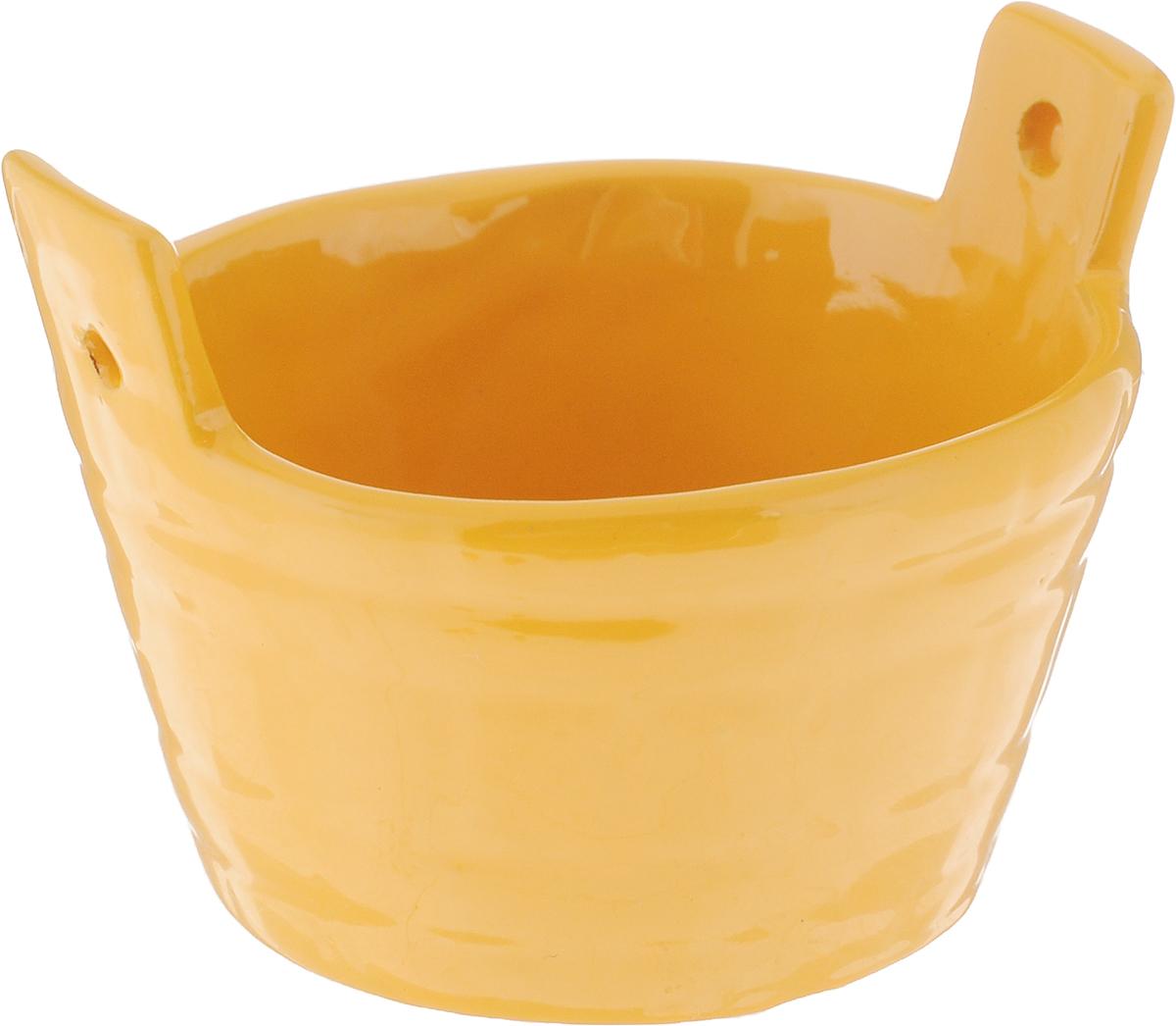Солонка Борисовская керамика Ушат, цвет: горчичный, 50 млОБЧ00000575_горчичныйСолонка Борисовская керамика Ушат, изготовленная изглазурованной керамики, имеет оригинальный форму.Изделие подойдет для хранения соли и специй, а также дляподачи на стол варенья или меда. Можно использовать в СВЧ печи и духовом шкафу. Размер солонки: 7,3 х 6 х 5,5 см.