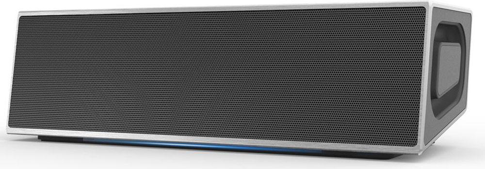 GZ Electronics LoftSound GZ-11, Silver портативная акустическая системаGZ-11(SL)Портативная беспроводная акустическая система в стиле Loft c голубой подсветкой, Bluetooth 4.0, NFC, мощность 2*10 Вт (суммарно 20 Вт), чувствительность 600±50 мВ, диапазон частот 60Гц - 18 КГц, функция объемного звука 3D Stereo Sound, соотношение сигнал/шум 85 дБ, разделение каналов 65 дБ, порт USB/AUX, спикерфон, входные напряжения 5 B DC и ток 1-2 А, аккумулятор литиевый 7,4 В 2200 мАч, время полной зарядки до 5 часов, время работы от аккумулятора до 10 часов, рабочая дистанция до 15 метров, в комплекте акустическая система, кабель Aux, кабель micro-USB, инструкция, гарантийный талон, материал металл и пластик, вес 670 гр, поставляется в двух цветах - серебристый матовый (SL) и черный матовый (BK)