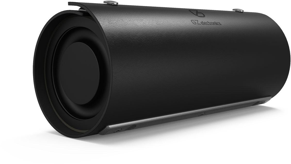 GZ Electronics LoftSound GZ-22, Black портативная акустическая системаGZ-22(BK)Беспроводная акустическая система LoftSound GZ-22 обладает динамиками суммарной мощностью 20 Вт. Колонка подключается по Bluetooth или NFC к любому цифровому устройству и выдает отличный звук на частоте от 60 Гц до 18 000 Гц. Функция 3D Stereo Sound обеспечивает эффект объемного звука. LED-индикация показывает уровень заряда и режим работы колонки. В динамик встроен аккумулятор 2200 мАч, который позволяет работать в активном режиме до 10 часов и сократить время зарядки до 5 часов. С помощью встроенного спикерфона вы можете общаться по громкой связи при входящих и исходящих звонках телефона, Skype, FaceTime, WhatsApp и других популярных голосовых мессенджеров. Порт Aux позволяет воспроизводить звук с любых носителей, в которых отсутствует Bluetooth и NFC, а порт microUSB служит для зарядки динамика.Портативный динамик LoftSound GZ-22 одет в кожух из натуральной кожи, который защищает устройство от воды и брызг и придает ему завершенный вид. Устройство в индустриальном дизайне станет стильным аксессуаром в любом современном интерьере. Материал корпуса изготовлен из металла и пластика.Как выбрать портативную колонку. Статья OZON Гид