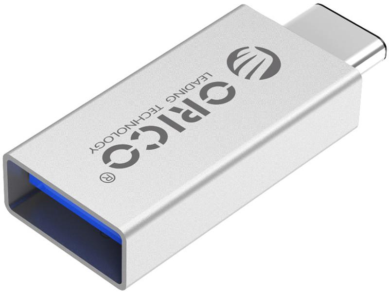 Orico CTA1, Silver переходник USB Type C - USB 3.0ORICO CTA1-SVORICO CTA1 совмести со стандартом USB OTG, с его помощью можно подключать к смартфонам и планшетам с USB Type C и поддерживающим стандарт USB OTG. Благодаря своей конструкции, кабели и переходники USB Type C можно подключать к своему разъёму любой стороной.Переходник относится к стандарту USB 3.0 и обеспечивают скорость передачи данных в 5 Гбит/сек.С помощью ORICO CTA1 можно подключать к смартфону мышки, клавиатуры, а также карты памяти, с которых можно смотреть видео и слушать музыку. ORICO CTA1 совместим со всеми устройствами с разъёмами USB Type C и функцией USB OTG. Это могу быть, смартфоны, планшеты и любые другие устройства.