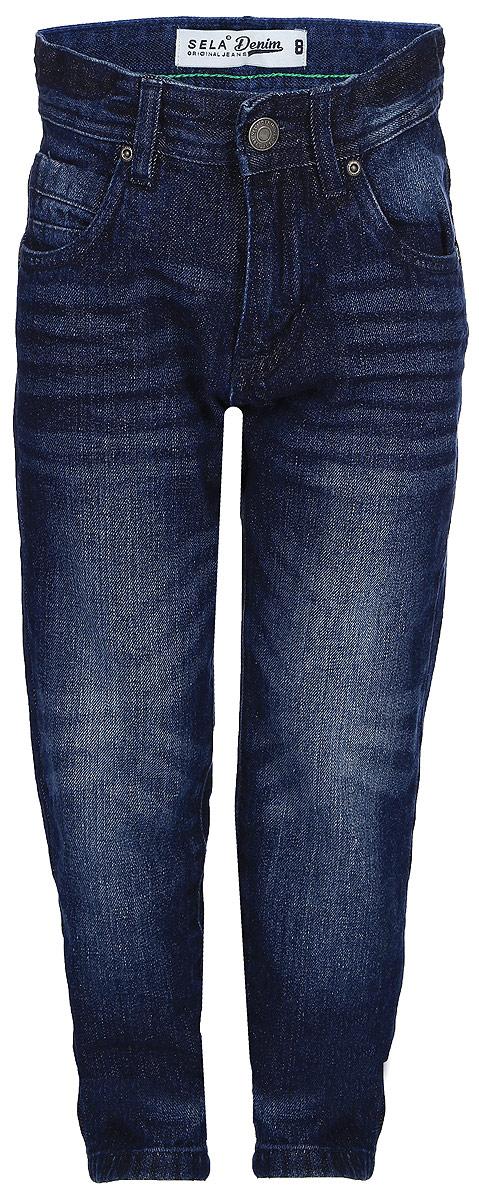 Брюки для мальчика Sela, цвет: темно-синий. PJ-835/024-7361. Размер 146, 11 летPJ-835/024-7361