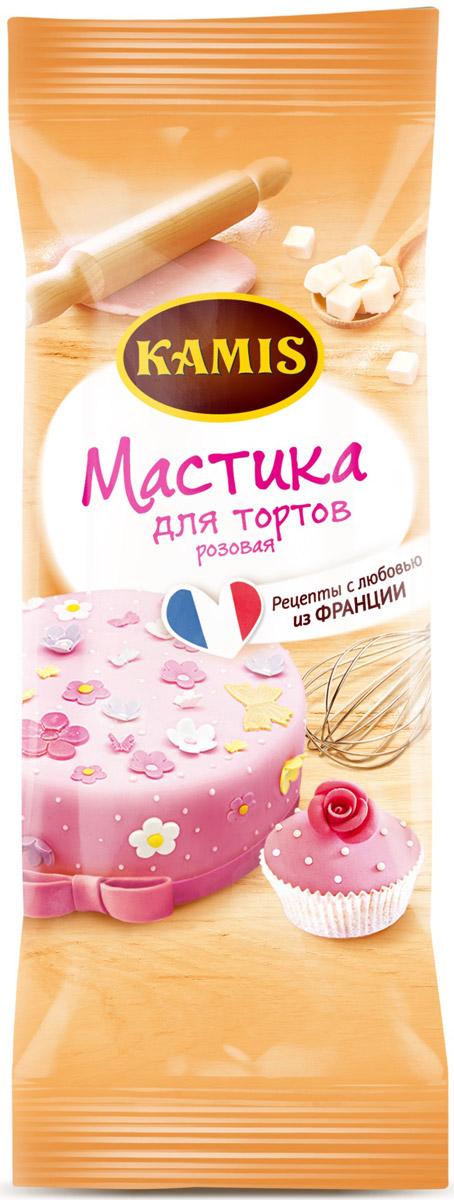 Kamis мастика для тортов розовая, 250 г кордон мастика