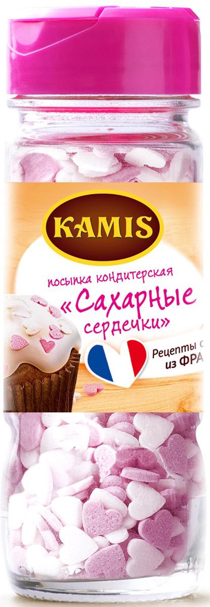 Kamis посыпка кондитерская сахарные сердечки, 55 г901285256