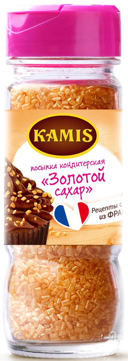Kamis посыпка кондитерская золотой сахар, 82 г kamis имбирь молотый 15 г