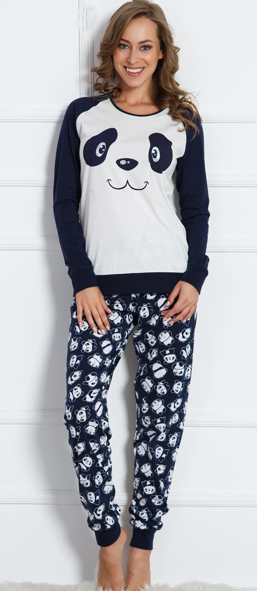 Домашний комплект женский Vienettas Secret Коала: брюки, кофта, цвет: серый. 703024 3125. Размер XL (50)703024 3125