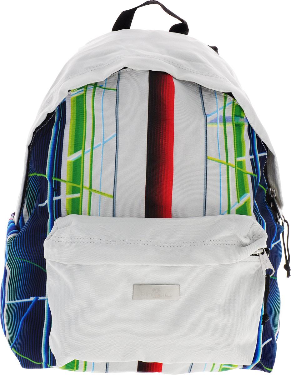 Faber-Castell Рюкзак Фестиваль цвет зеленый синий5177190135_зеленый/синийСтильный и качественный рюкзак Faber-Castell Фестиваль выполнен из прочного водоотталкивающего полиэстера и прекрасно подойдет для использования подростками.Это легкий и компактный городской рюкзак, который обязательно подчеркнет вашу индивидуальность.Рюкзак содержит одно большое вместительное отделение, закрывающееся на застежку-молнию с двумя бегунками. На лицевой стороне рюкзака расположен накладной карман на молнии.Рюкзак оснащен широкими лямками и текстильной петлей для подвешивания.Такую модель рюкзака можно использовать для повседневных прогулок, отдыха и спорта.