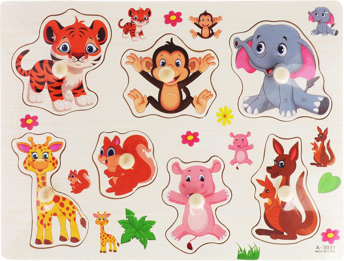 Фабрика Фантазий Пазл для малышей Животные наборы для творчества фабрика фантазий набор для создания фигурок из гипса на магнитах фрукты и овощи