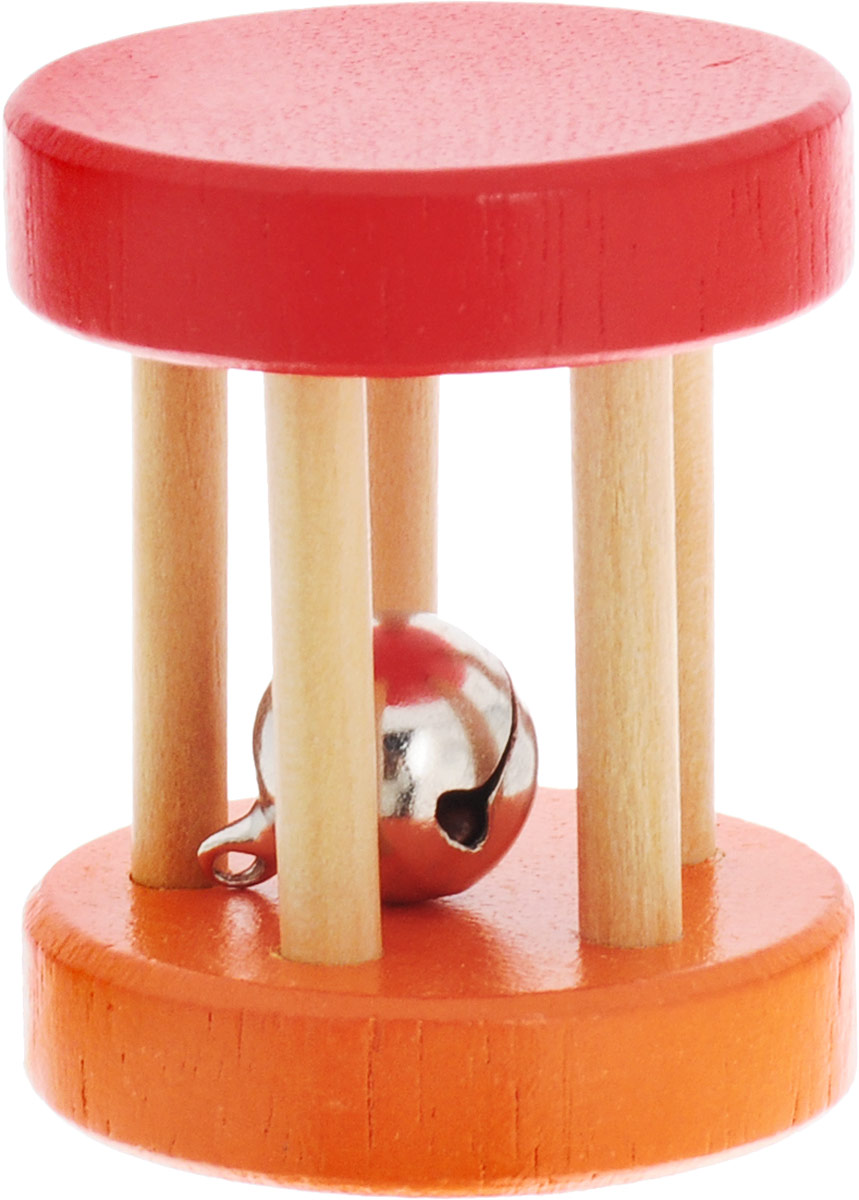 Фабрика Фантазий Погремушка-катушка цвет оранжевый красный фабрика фантазий сшей игрушку динозаврик с пищалкой внутри