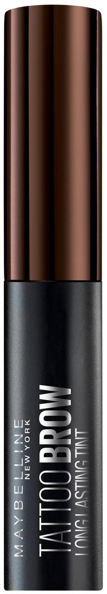 Maybelline New York Стойкий гелевый тинт для бровей Brow Tattoo, оттенок 3, Темно-коричневый, 5 г maybelline мастер формы карандаш для бровей светло коричневый