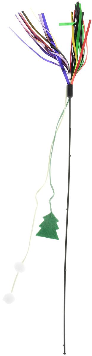 Игрушка для кошек GLG Дразнилка с мишурой, новогодняя, длина 45 см игрушка для кошек 1 лабиринт с дразнилкой