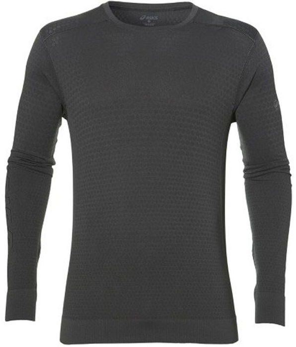 Футболка для бега мужская Asics Fuzex Seamless LS, цвет: серый. 146615-0779. Размер L (50/52) giaevvi ladies luxury handbags women messenger bags fashion shoulder bag genuine leather handbag cross body designer handbags