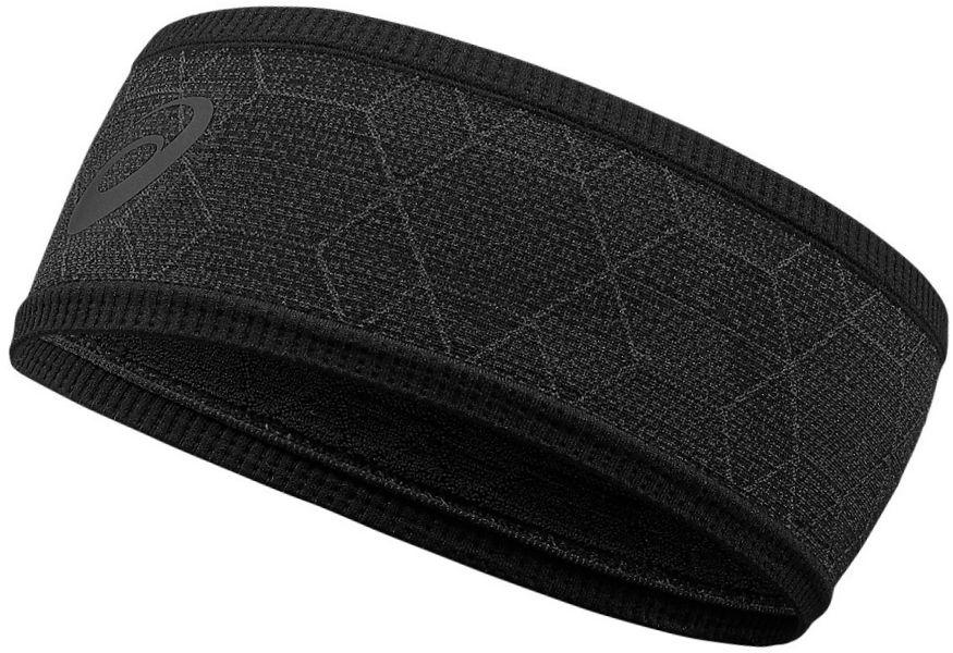Повязка на голову Asics Headband Graphic, цвет: черный. 146818-0904. Размер 56/58146818-0904Повязка на голову