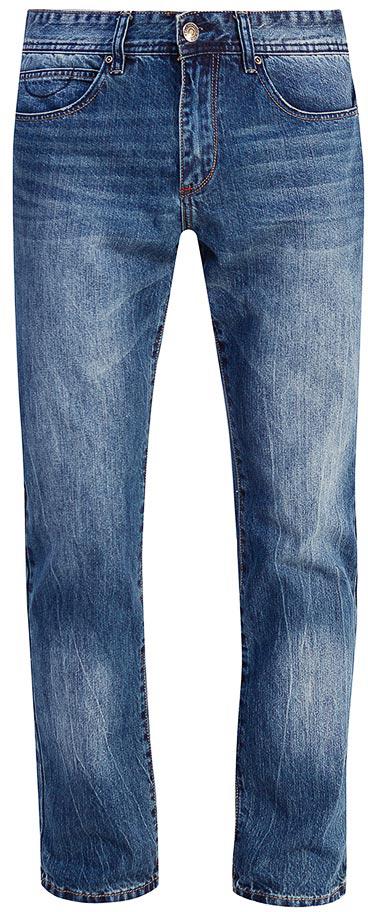 Джинсы мужские Sela, цвет: темно-синий джинс. PJ-235/106-7452. Размер 30-34 (46-34)PJ-235/106-7452Мужские джинсы от Sela выполнены из натурального хлопка. Модель прямого кроя в талии застегивается на пуговицу, имеются шлевки для ремня и ширинка на застежке-молнии. Джинсы имеют классический пятикарманный крой.
