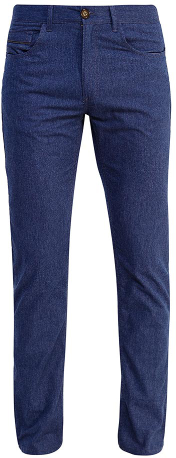 Брюки мужские Sela, цвет: темно-синий. P-215/119-7351. Размер 48P-215/119-7351Мужские брюки от Sela выполнены из хлопкового трикотажа. Модель прямого кроя в талии застегивается на пуговицу, имеются шлевки для ремня и ширинка на застежке-молнии. Брюки имеют классический пятикарманный крой.