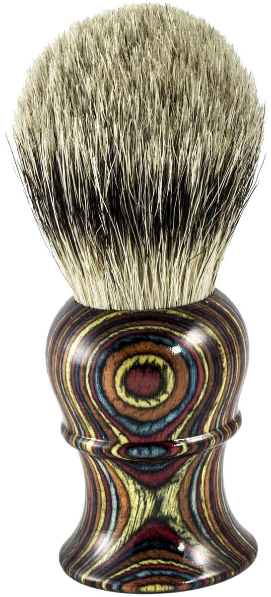Metzger Barbering Помазок ручной работы Multicolor Wood с кистью из ворса барсука, 11,5 см - Мужские средства для бритья и уход за бородой
