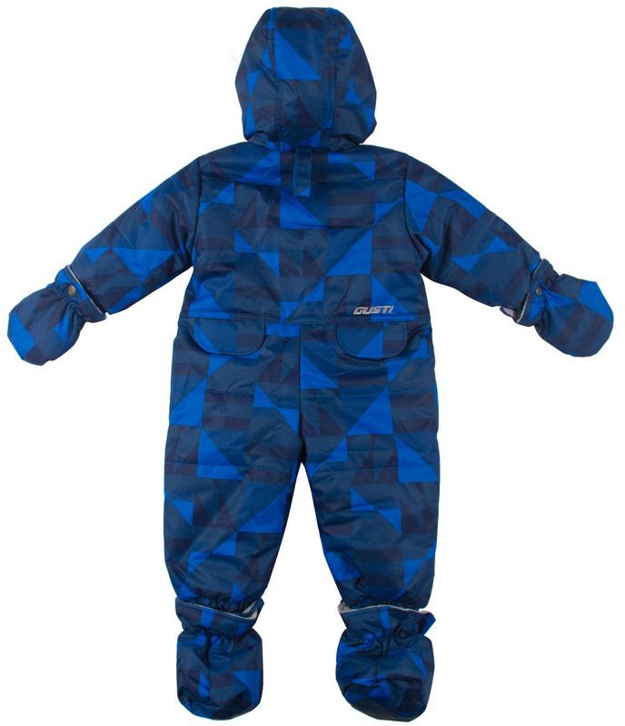 Комбинезон утепленный для мальчика Gusti, цвет: синий, голубой. GWB 2108-ELECTRIC BLUE. Размер 85GWB 2108-ELECTRIC BLUEКомбинезон выполнен из ткани с водоотталкивающей DWR пропиткой с утеплителем Tech-Polyfil (226 г/м2), рассчитанным на температуру до - 30С. Модель с капюшономна флисе, в верхней части резинка, предназначена для более стойкого прилегания к голове. Застегивается на молнию с двойной ветрозащитной планкой. Рукава дополнены двойными манжетами. Флисовая подкладка на уровне груди спереди и сзади. Модель оснащена светоотражающими элементами.