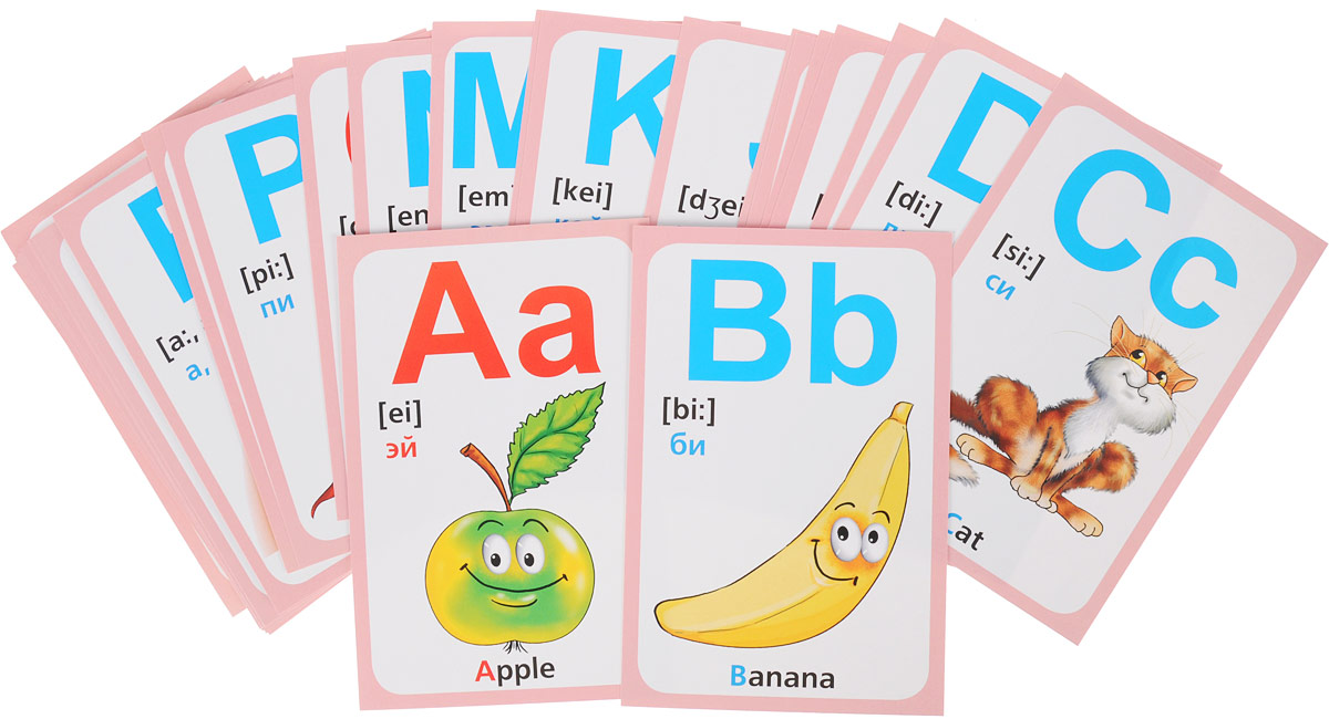 фото картинки к каждой букве английского алфавита розовом топике