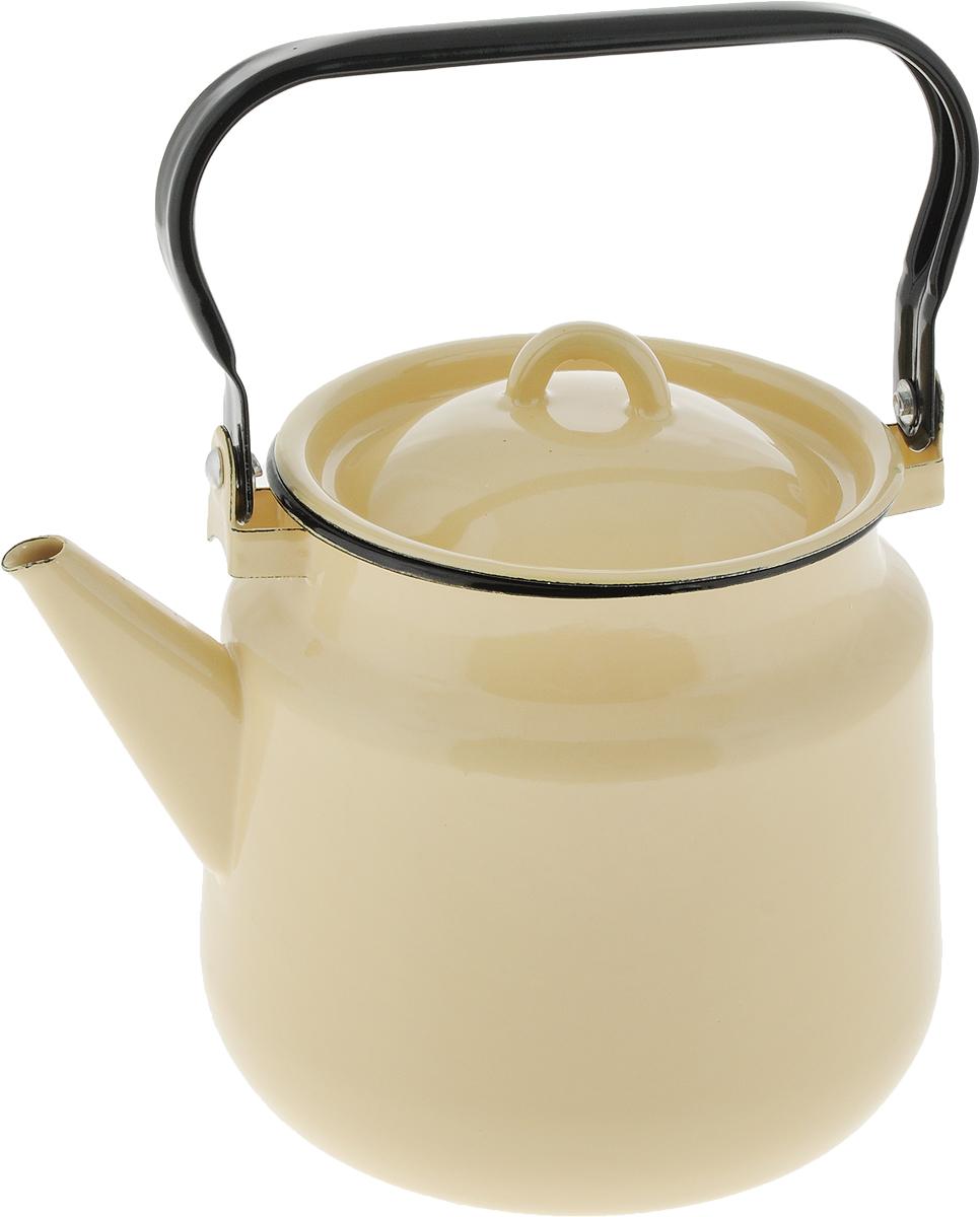 Чайник СтальЭмаль, цвет: желтый, черный, 3,5 л. 2с262с26_желтыйЧайник СтальЭмаль выполнен из высококачественного стального проката, покрытого двумя слоями жаропрочной эмали. Такое покрытие защищает сталь от коррозии, придает посуде гладкую стекловидную поверхность и надежно защищает от кислот и щелочей. Чайник оснащен подвижной стальной ручкой и крышкой. Эстетичный и функциональный чайник будет оригинально смотреться в любом интерьере. Подходит для газовых, электрических, стеклокерамических, индукционных плит. Можно мыть в посудомоечной машине. Диаметр (по верхнему краю): 15 см.Высота чайника (без учета ручки и крышки): 17 см.