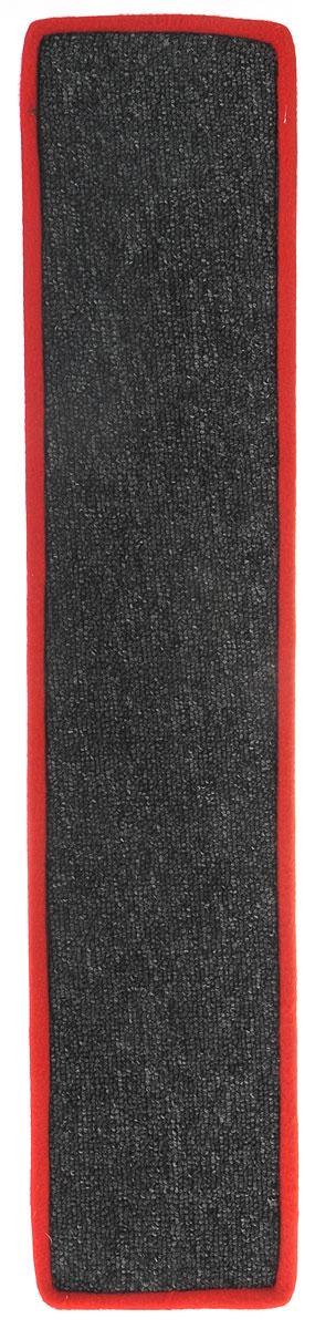 Когтеточка Грызлик Ам, с пропиткой, цвет: серый, красный, 67 x 14 см40.GR.084_серый/красныйКогтеточка Грызлик Ам предназначена для стачивания когтей вашей кошки и предотвращения их врастания. Изделие выполнено из ДВП и ковролина, края отделаны искусственным мехом. Изделие снабжено специальными отверстиями для крепления. Ковролин обеспечивает естественный уход за когтями питомца. Специальная пропитка привлекает внимание кошки. Такая когтеточка позволит сохранить неповрежденными мебель и другие предметы интерьера.Прямая когтеточка идеально подходит для крепления на стену.