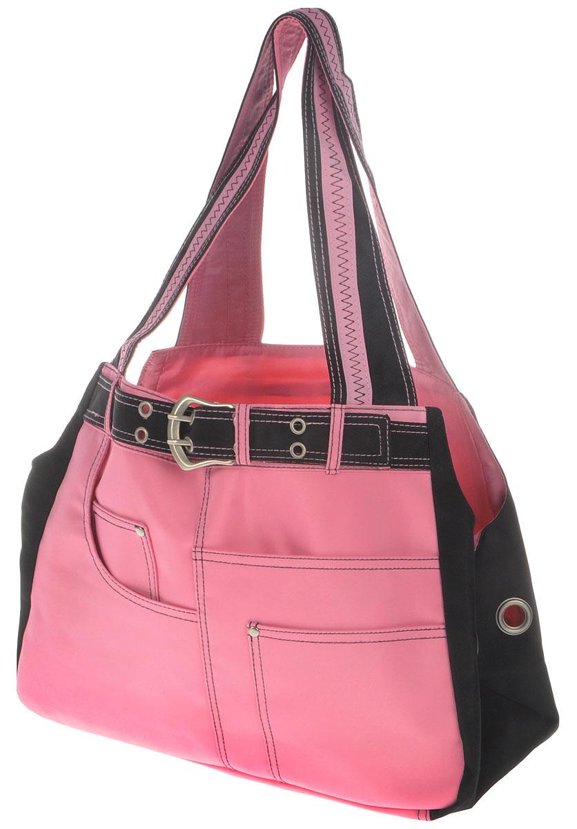 Сумка-переноска для животных Camon  Jolly-2 , цвет: розовый, 38 x 18 x 28 см - Переноски, товары для транспортировки