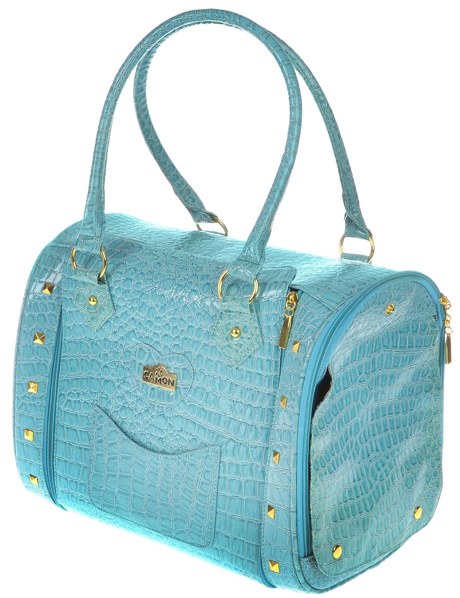Сумка-переноска для животных  Camon , цвет: голубой, 36 x 26 x 29 см - Переноски, товары для транспортировки