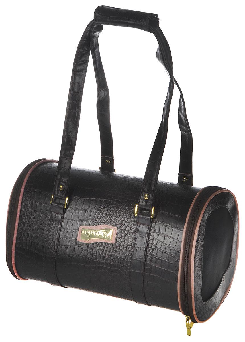 Сумка-переноска для животных Camon, цвет: коричневый, 36 x 22 x 21 см зооник сумка переноска для животных 32 36 47см