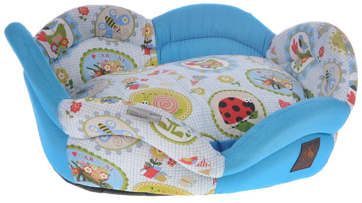 Лежак для животных Fabotex ROSAE. Размер S лежак дарэлл хантер лось 2 с подушкой 55 40 16см