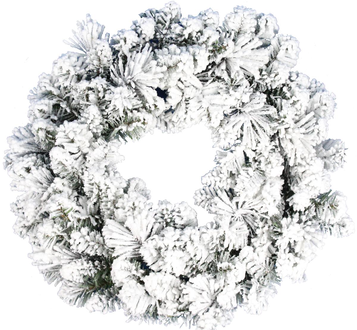 Венок декоративный Beatrees Winter, заснеженный, цвет: зеленый, белый, диаметр 60 смGS17GPP-WSA24Декоративный венок Beatrees Winter дополнит интерьер любого помещения в преддверии Нового года, а также может стать оригинальным подарком для ваших друзей и близких. Композиция выполнена в виде венка из заснеженных искусственных веток. Оформление помещения декоративным венком создаст праздничную, по-настоящему радостную и теплую атмосферу.