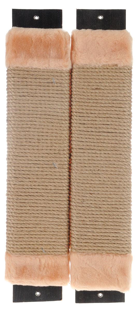 Когтеточка Adel-Pet  Угловая , с пропиткой, веревочная, цвет: бежевый, длина 60 см - Когтеточки и игровые комплексы